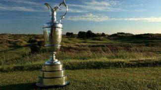 open británico golf chica